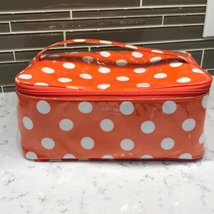 Kate Spade  makeup case with handle  Preloved